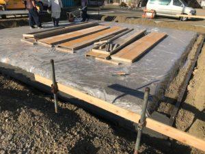 音羽町建売り 新築工事②(基礎工事⋯捨てコンクリート)