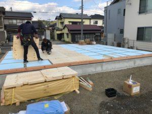 音羽町建売り 新築工事⑥(土台工事)